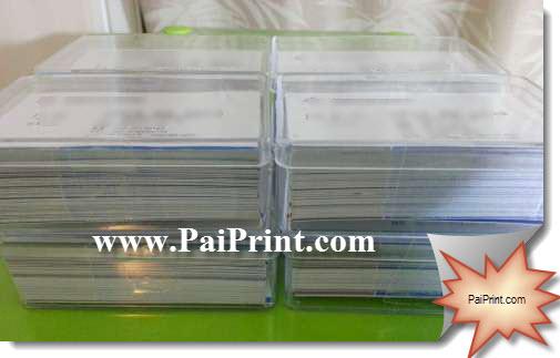 นามบัตรสี พิมพ์สี2ด้าน 800แผ่น