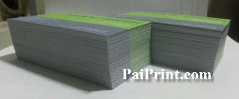 นามบัตรสี พิมพ์สองด้าน กระดาษด้าน ธรรมดา