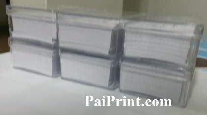 นามบัตรสี 3ชื่อ ชื่อละ200ใบ ใส่กล่องพลาสติกใส หยิบสดวก