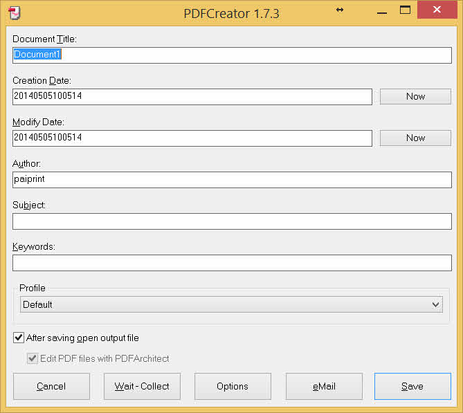 word PDFcreator 2