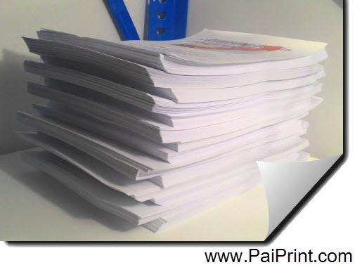 รับปริ้นสีเลเซอร์ งานเอกสารสี เข้าเล่มรายงาน งานเนียบ ราคาถูก