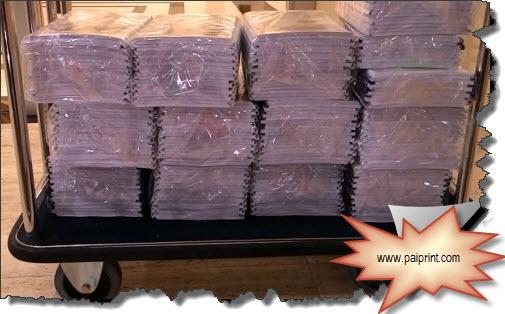 รับปริ้นสีเลเซอร์ ปริ้นสีรายงานการประชุม บริการจัดส่ง ตัวอย่างปริ้นสีรายงาน 300เล่ม