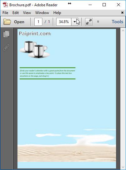 ออกแบบโบรชัวร์ด้วยโปรแกรม Microsoft Word 2018